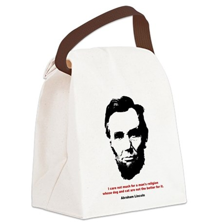 Abraham Lincoln Quote Canvas Lunch Bag