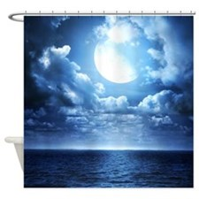 Night Ocean Shower Curtain