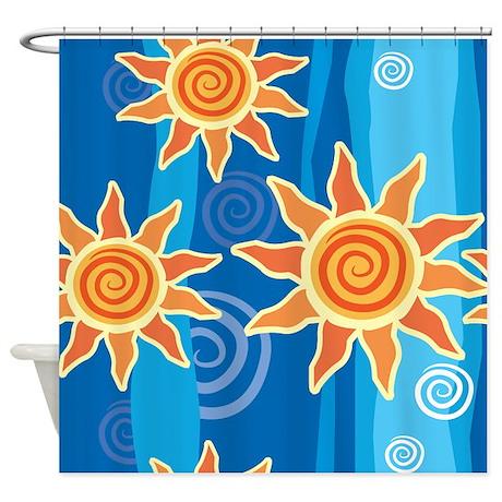Summer Sun Shower Curtain