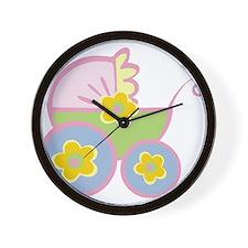 Cute Baby Stroller Wall Clock