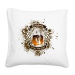 Buddha Is My Om Boy Square Canvas Pillow