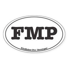 FileMaker Pro Developer Oval Decal