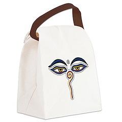 Buddha Eyes Canvas Lunch Bag