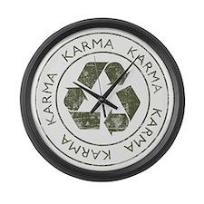 Vintage Karma Large Wall Clock