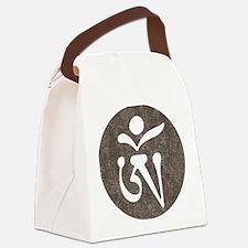 Tibetan Om Canvas Lunch Bag