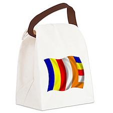 Wavy Buddhist Flag Canvas Lunch Bag