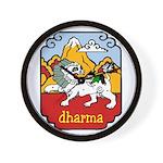 Snow Lion + Dharma Wall Clock