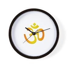 Sacred Symbol Om Wall Clock