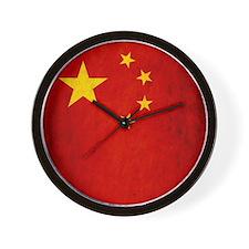 China Grunge Flag Wall Clock