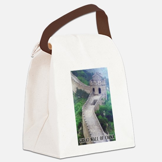 Great Wall Of China Canvas Lunch Bag
