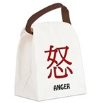 Anger Canvas Lunch Bag