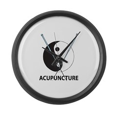 Acupuncture Large Wall Clock