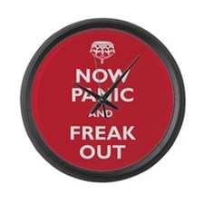 Now Panic And Freak Out Large Wall Clock