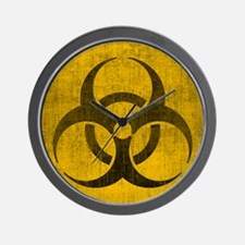 Vintage Biohazard Wall Clock