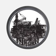 Vintage Oil Rig Wall Clock