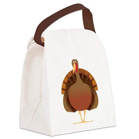 Cute Turkey Canvas Lunch Bag