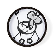 Cute Cartoon Poodle Wall Clock