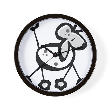 Cute Cartoon Poodle Wall Clock By Esangha