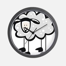 Cute Cartoon Sheep Wall Clock