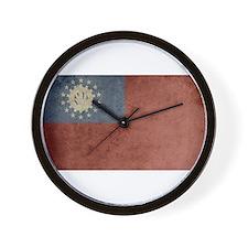Vintage Burma Flag Wall Clock