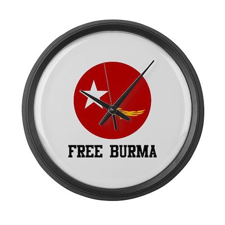 Free Burma Large Wall Clock