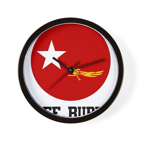 Free Burma Wall Clock