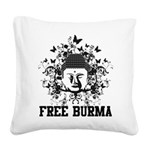 Buddha Free Burma Square Canvas Pillow