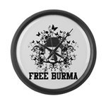 Buddha Free Burma Large Wall Clock