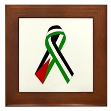 Palestinian Ribbon for Peace & Justice Framed Tile