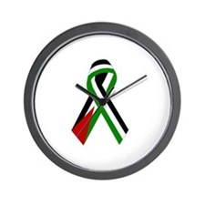 Palestinian Ribbon for Peace & Justice Wall Clock