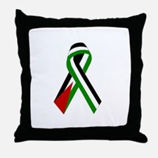 Palestinian Ribbon for Peace & Justice Throw Pillo