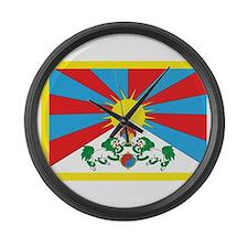 Tibet Flag Large Wall Clock
