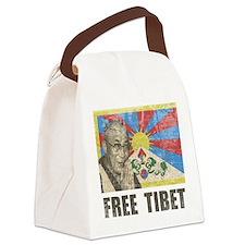 Dalai Lama Free Tibet Canvas Lunch Bag