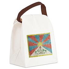 Vintage Tibet Flag Canvas Lunch Bag