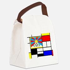 Pop Art Tibet Flag Canvas Lunch Bag