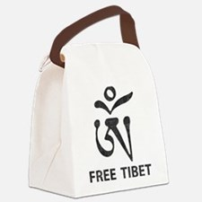 Tibetan Om Symbol Canvas Lunch Bag