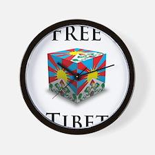 Free Tibet Cube Wall Clock