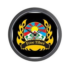 Flame Free Tibet Wall Clock