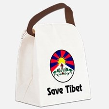 Save Tibet Canvas Lunch Bag