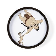 Funny Sumo Wrestler Wall Clock