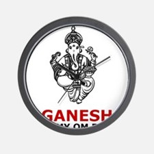 Hinduism Ganesh Is My Om Boy Wall Clock