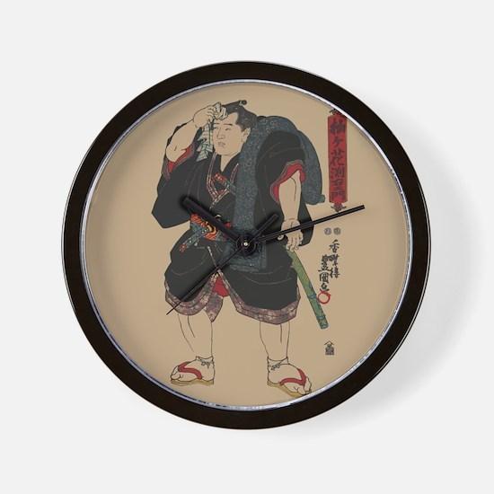 Unique Ukiyo e Wall Clock