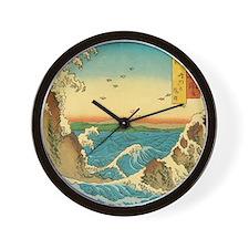 Hiroshige Navaro Rapids Wall Clock