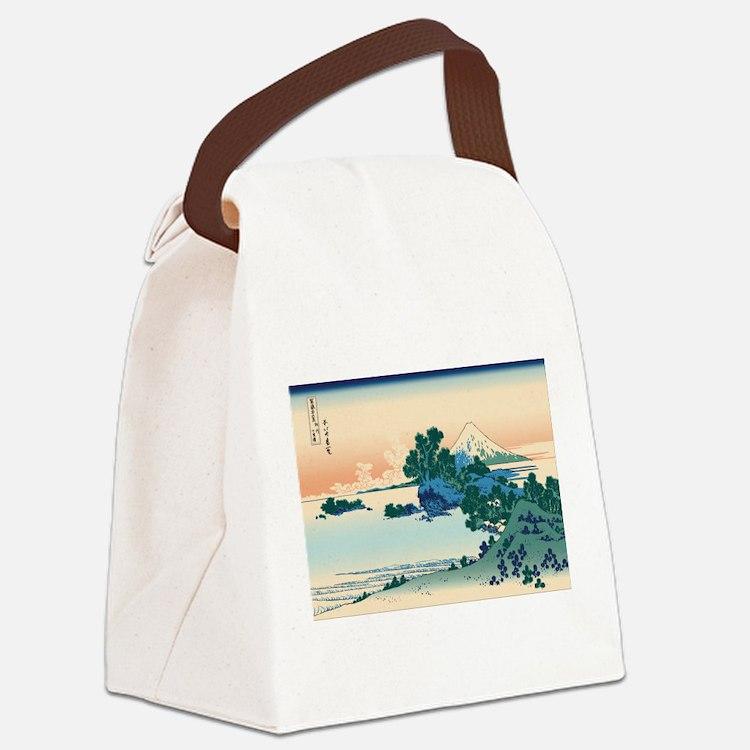 Cute Ukiyo e Canvas Lunch Bag