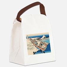 Funny Ukiyo e Canvas Lunch Bag