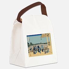 Hokusai Sazai Hall Canvas Lunch Bag