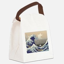 Hokusai The Great Wave Canvas Lunch Bag