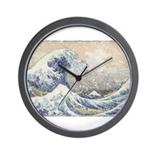 Japan Big Wave Wall Clock