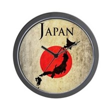 Map Of Japan Wall Clock