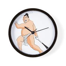 Baseball Sumo Wall Clock